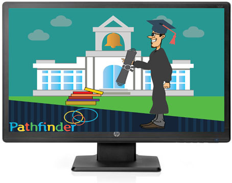 University_Icon_with_logo_With_gown_BLUE_BACKGROUND_with_degree